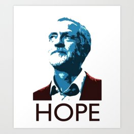 Corbyn HOPE Art Print