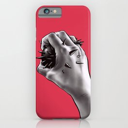 Painful Experiment With Stabbed Hand | Horror Art iPhone Case