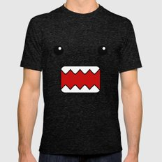 Domo Kun - Brown Japanese Monster Mens Fitted Tee Tri-Black X-LARGE