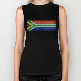 National flag of the Republic of South Africa - Banner version Biker Tank
