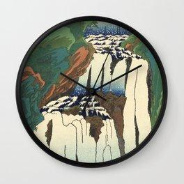 Japanese Woodblock - Waterfall - Utagawa Hiroshige Wall Clock