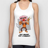 motivational Tank Tops featuring Motivational Animal by Franky Plata