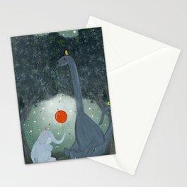 the last dinosaur Stationery Cards