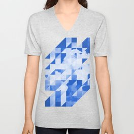 SKY triangles Unisex V-Neck