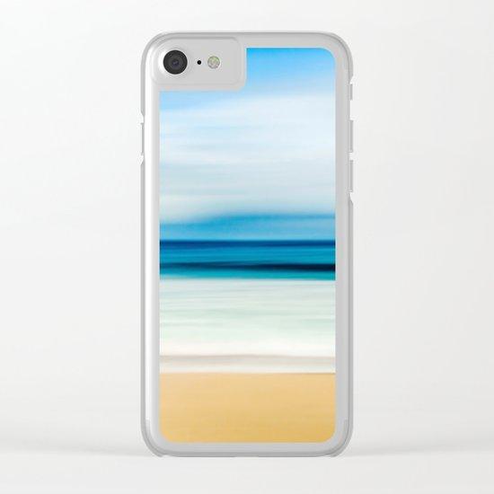 Beautiful Beach View Clear iPhone Case