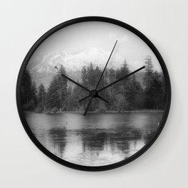View of Mount Shasta Wall Clock