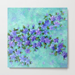 Flowering Branch - Purple Metal Print
