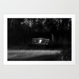 Cupid's Bench Art Print