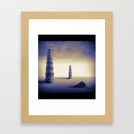 The towers Framed Art Print