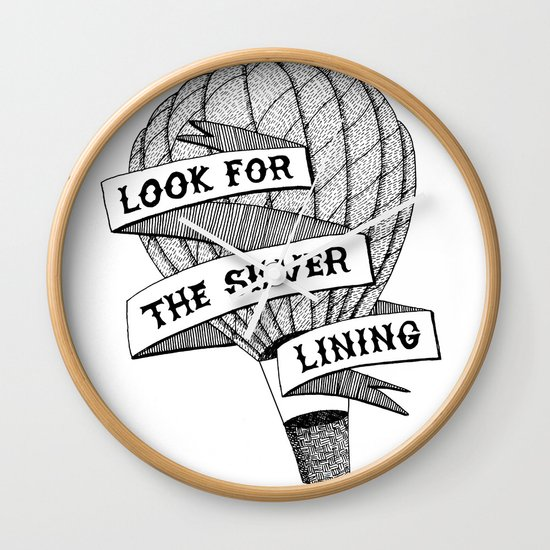 Look for the silver lining Wall Clock