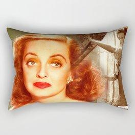 Bette Davis Collage Portrait Rectangular Pillow
