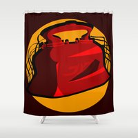 medical Shower Curtains featuring Medical Mechanica by 121gigawatts
