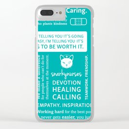 Positivity in Nursing ~ Teal Clear iPhone Case