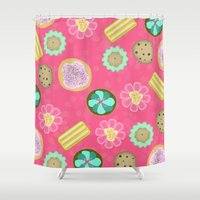 cookies Shower Curtains featuring Cookies by Party Peeps