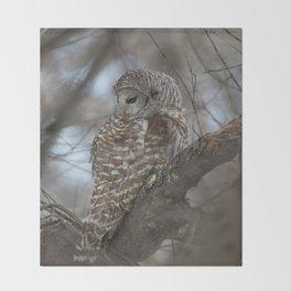 Sleepy Owl Throw Blanket