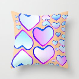Coeur douceur Throw Pillow