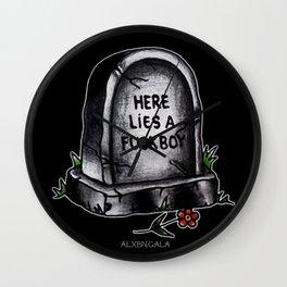 Fuckboy Flash | Tombstone Wall Clock