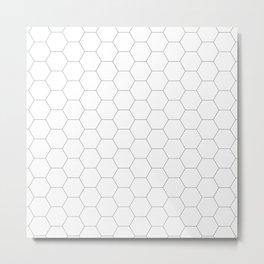 Honeycomb black and white pattern Metal Print