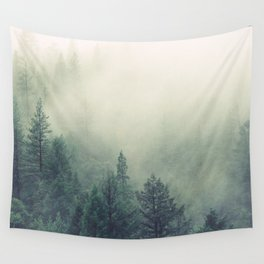 My Peacful Misty Forest Wall Tapestry