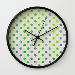 Watercolor Pints Wall Clock