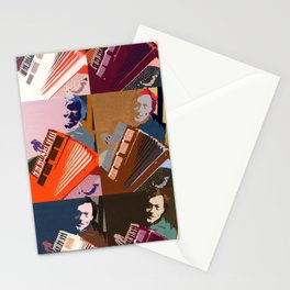 The Accordion Player Stationery Cards