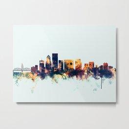 Portland Oregon Skyline Metal Print