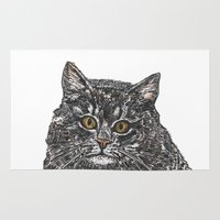 meow Area & Throw Rugs featuring Meow by Meredith Mackworth-Praed