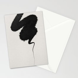 Black Brushstroke Stationery Cards