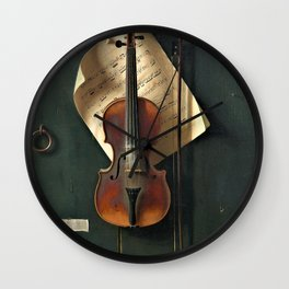 William Harnett - The Old Violin - Digital Remastered Edition Wall Clock