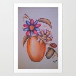 Dried Floral Arrangement Art Print
