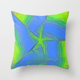Rising Star Abstract Throw Pillow