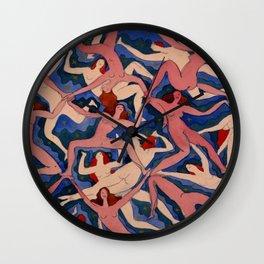 Emanuel Frinta, Bez názvu,1920 Nude Women Pattern Watercolor Pattern Wall Clock