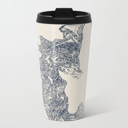 'Inheritance' (4 of 6). Original ink drawings re-coloured in Photoshop. (Other colourways available) Metal Travel Mug