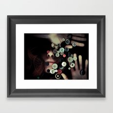 TRAPPED BUTTONS Framed Art Print