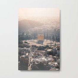 Sunrise over Athens | Greece Travel Photography | City Photo Print Metal Print
