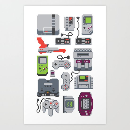 A Pixel of my Childhood Art Print
