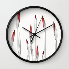 Red and White Spring Wall Clock