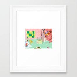 Caterpillar Kitchen Framed Art Print
