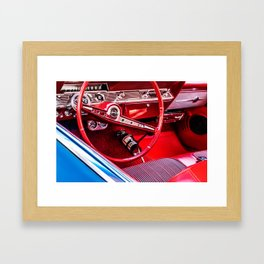 Behind The Wheel - Study 6 Framed Art Print