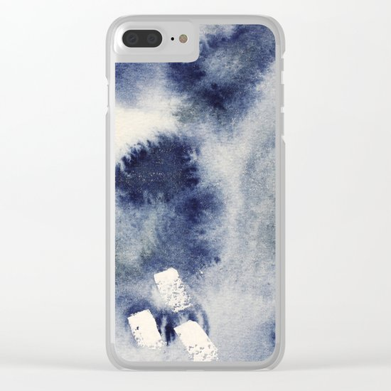 Ocean light || watercolor Clear iPhone Case