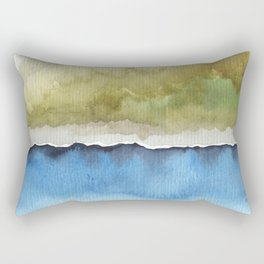 Green by the Sea Rectangular Pillow