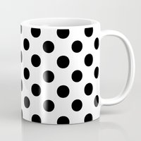 polka Mugs featuring Polka Dots (Black/White) by 10813 Apparel