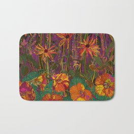 You Can Get By (Autumn Flowers) Bath Mat