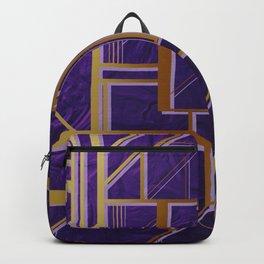 Modern,gold,art deco, purple,geomtric Backpack