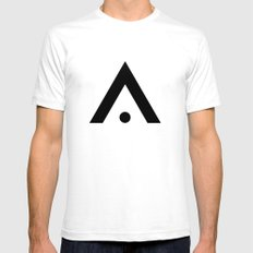 A - Alphabet White SMALL Mens Fitted Tee