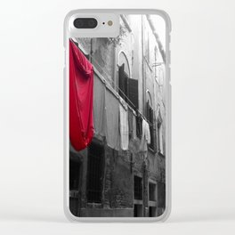 """Superman""""s Laundry Day in Venice, Italy Clear iPhone Case"""
