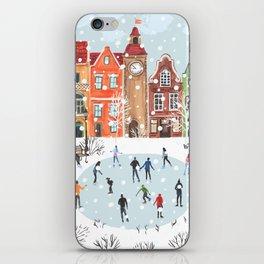 winter town iPhone Skin