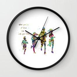 Family Run Wall Clock