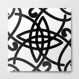 Square Celtic Knot Twirl Metal Print