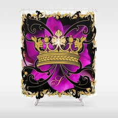 My Empire Collection Summer Set purple Flowers Crown Shower Curtain